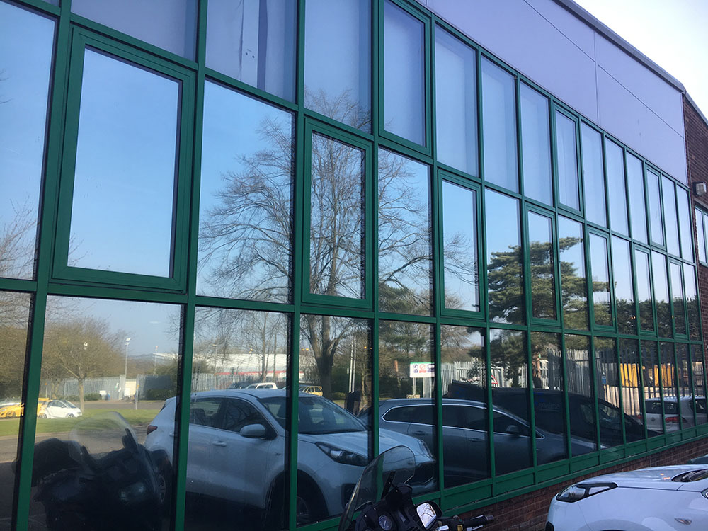 Commercial solar window film